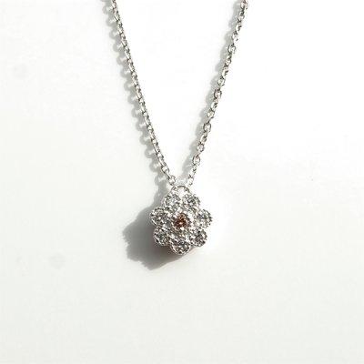 画像1: フィオリ ピンクダイヤモンド  ネックレス