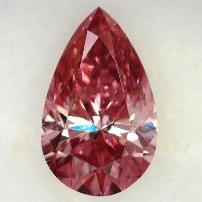 画像1: 裸石 0.160ct FANCY VIVID PINK(天然) VS2 中央宝石研究所ソーティング付
